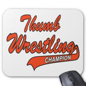 Thumb Wrestling Mouse Mat